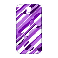 Purple pattern Samsung Galaxy S4 I9500/I9505  Hardshell Back Case