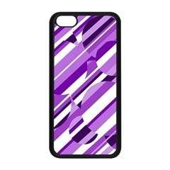 Purple pattern Apple iPhone 5C Seamless Case (Black)