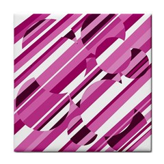 Magenta Pattern Tile Coasters