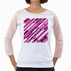 Magenta pattern Girly Raglans