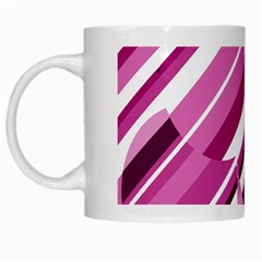Magenta Pattern White Mugs