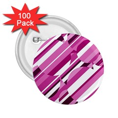 Magenta pattern 2.25  Buttons (100 pack)