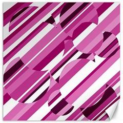 Magenta pattern Canvas 12  x 12