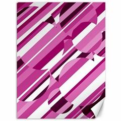 Magenta pattern Canvas 36  x 48