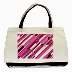 Magenta pattern Basic Tote Bag (Two Sides)
