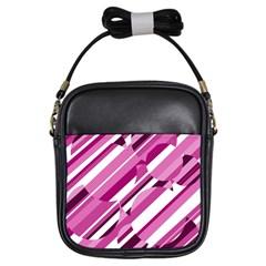 Magenta pattern Girls Sling Bags