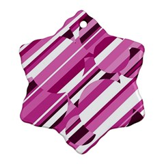 Magenta pattern Snowflake Ornament (2-Side)