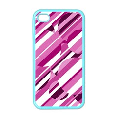 Magenta pattern Apple iPhone 4 Case (Color)