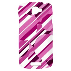 Magenta pattern HTC One S Hardshell Case