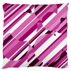 Magenta pattern Large Cushion Case (One Side)