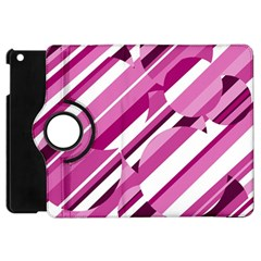 Magenta pattern Apple iPad Mini Flip 360 Case