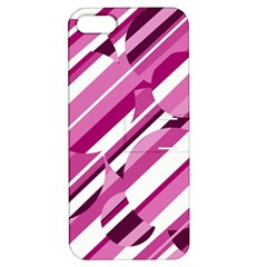 Magenta pattern Apple iPhone 5 Hardshell Case with Stand