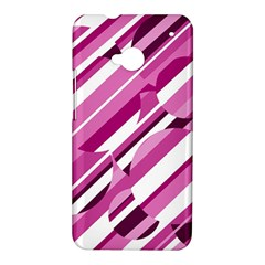 Magenta pattern HTC One M7 Hardshell Case