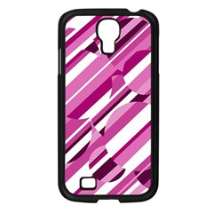 Magenta pattern Samsung Galaxy S4 I9500/ I9505 Case (Black)