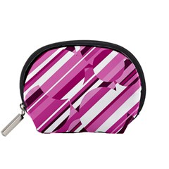 Magenta pattern Accessory Pouches (Small)