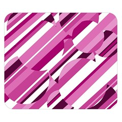 Magenta pattern Double Sided Flano Blanket (Small)