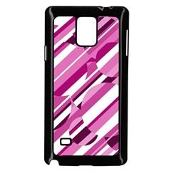 Magenta pattern Samsung Galaxy Note 4 Case (Black)