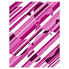 Magenta pattern Drawstring Bag (Large)