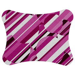 Magenta pattern Jigsaw Puzzle Photo Stand (Bow)