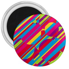 Colorful summer pattern 3  Magnets