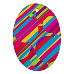 Colorful summer pattern Ornament (Oval)