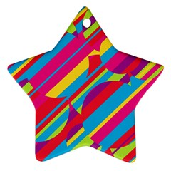 Colorful summer pattern Ornament (Star)