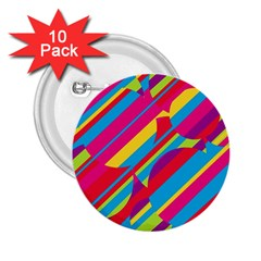 Colorful summer pattern 2.25  Buttons (10 pack)