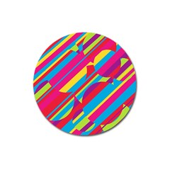 Colorful summer pattern Magnet 3  (Round)