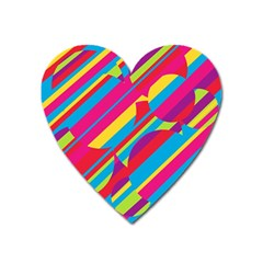 Colorful summer pattern Heart Magnet