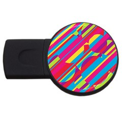 Colorful summer pattern USB Flash Drive Round (1 GB)