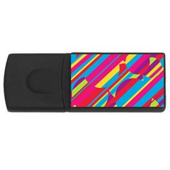 Colorful summer pattern USB Flash Drive Rectangular (2 GB)