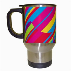 Colorful summer pattern Travel Mugs (White)