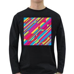 Colorful summer pattern Long Sleeve Dark T-Shirts