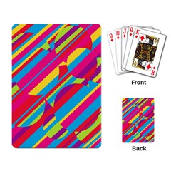 Colorful summer pattern Playing Card