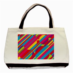 Colorful summer pattern Basic Tote Bag (Two Sides)