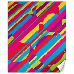 Colorful summer pattern Canvas 11  x 14