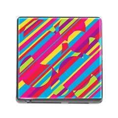 Colorful summer pattern Memory Card Reader (Square)