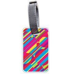 Colorful summer pattern Luggage Tags (Two Sides)