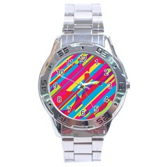 Colorful summer pattern Stainless Steel Analogue Watch