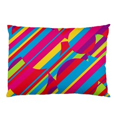Colorful summer pattern Pillow Case (Two Sides)