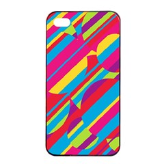 Colorful summer pattern Apple iPhone 4/4s Seamless Case (Black)