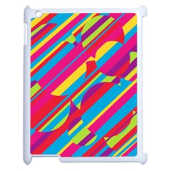 Colorful summer pattern Apple iPad 2 Case (White)