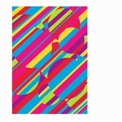 Colorful summer pattern Large Garden Flag (Two Sides)