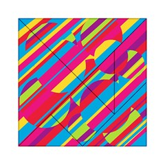 Colorful summer pattern Acrylic Tangram Puzzle (6  x 6 )