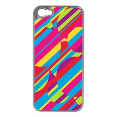 Colorful summer pattern Apple iPhone 5 Case (Silver)