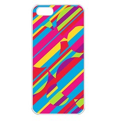 Colorful summer pattern Apple iPhone 5 Seamless Case (White)