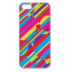 Colorful summer pattern Apple Seamless iPhone 5 Case (Clear)