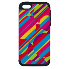Colorful summer pattern Apple iPhone 5 Hardshell Case (PC+Silicone)