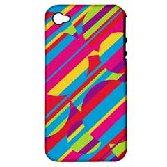 Colorful summer pattern Apple iPhone 4/4S Hardshell Case (PC+Silicone)