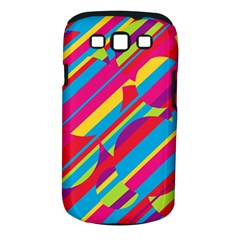 Colorful summer pattern Samsung Galaxy S III Classic Hardshell Case (PC+Silicone)